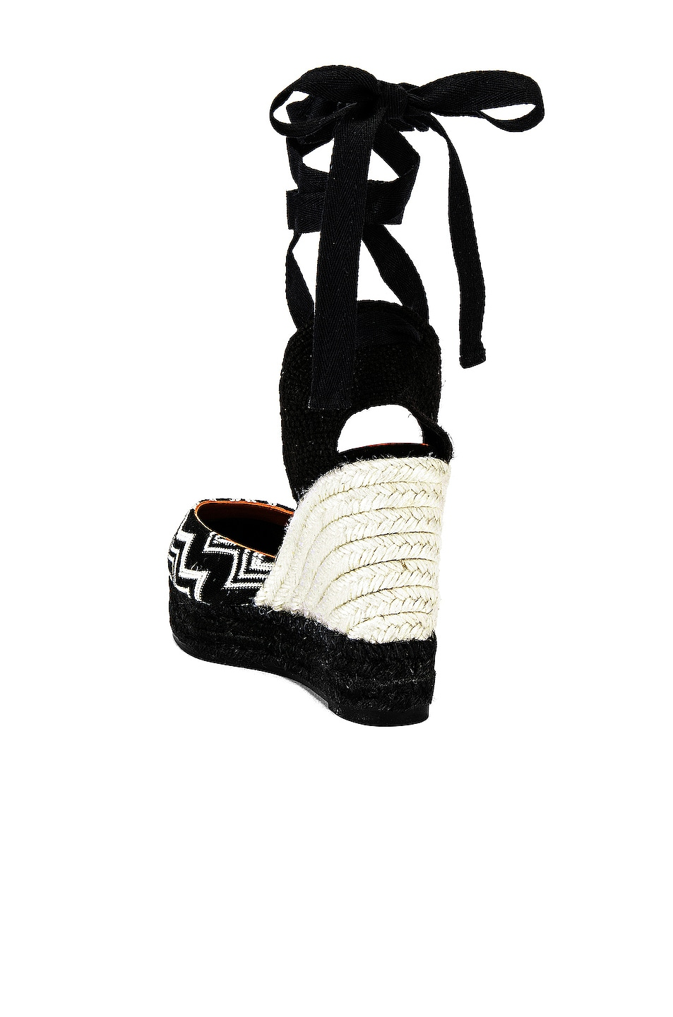 Image 3 of Castaner x MISSONI Carina Wedge Espadrille in Black & White