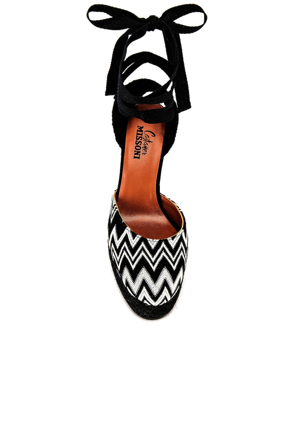 Image 4 of Castaner x MISSONI Carina Wedge Espadrille in Black & White