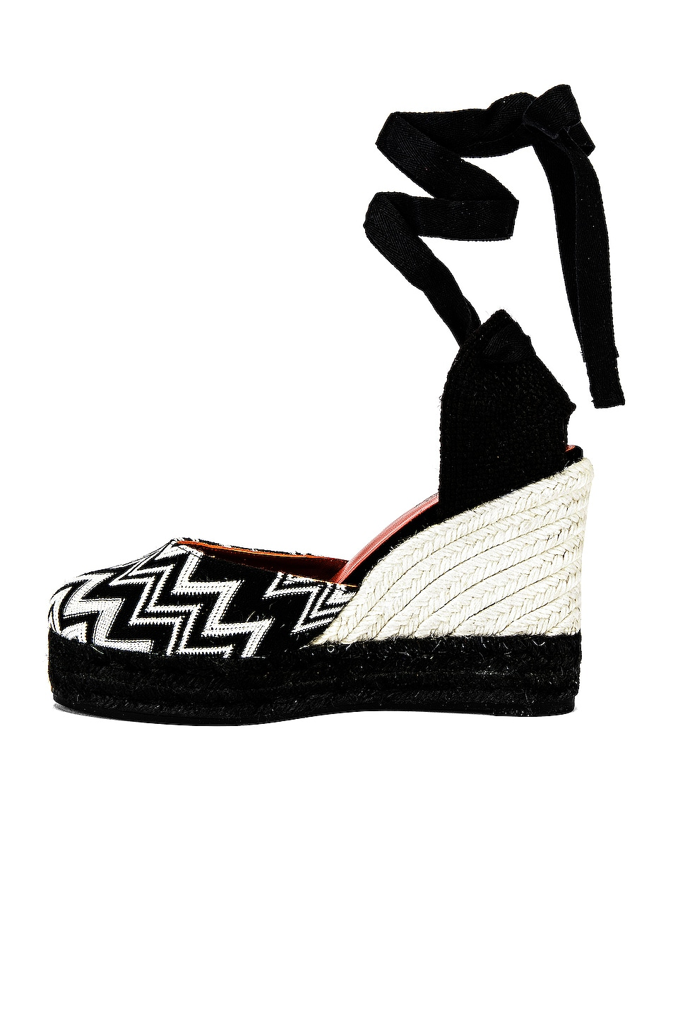 Image 5 of Castaner x MISSONI Carina Wedge Espadrille in Black & White