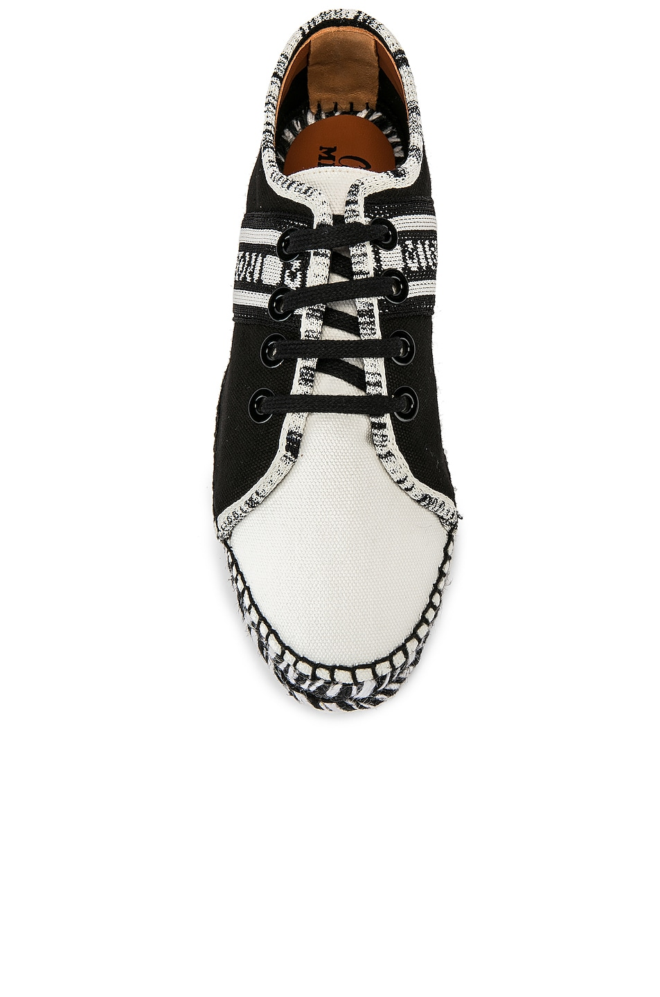 Image 4 of Castaner x MISSONI Kerri Sneaker in Black & White
