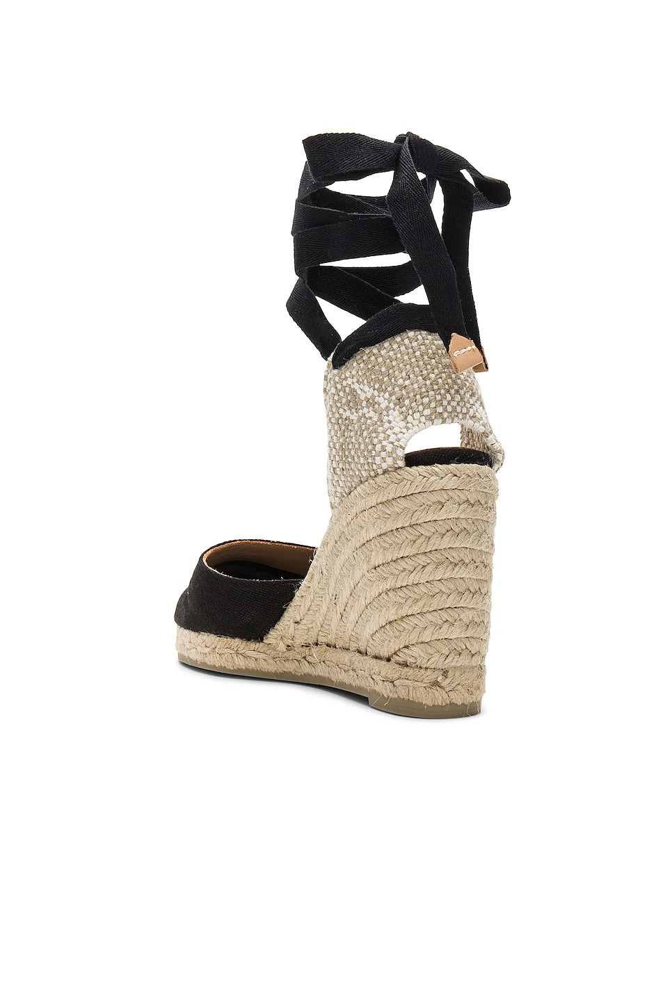Image 3 of Castaner Carina Espadrille in Black & Natural