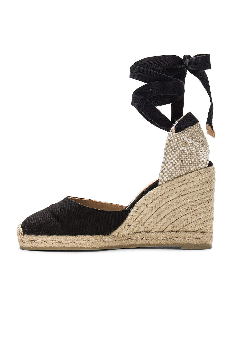 Image 5 of Castaner Carina Espadrille in Black & Natural