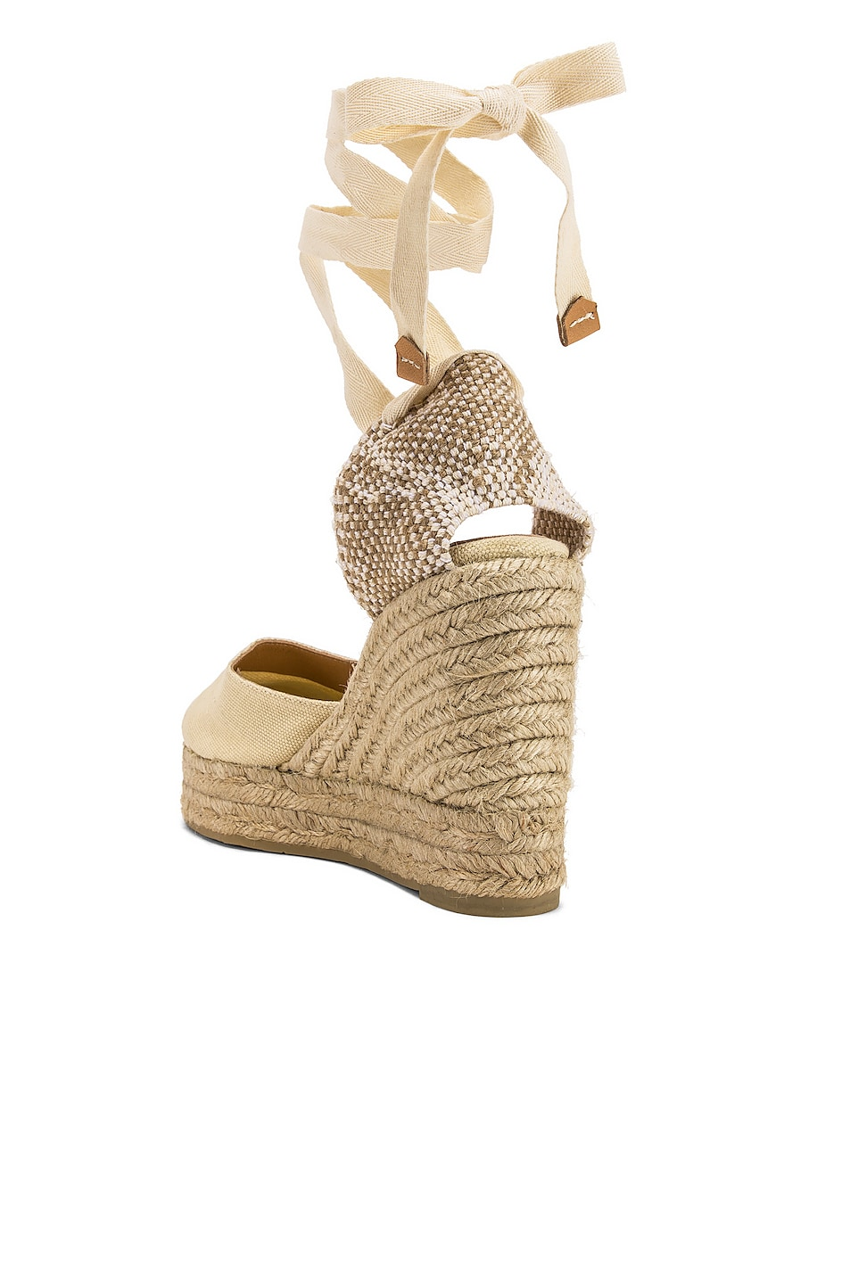 Image 3 of Castaner Carina Espadrille in Blanco & Natural