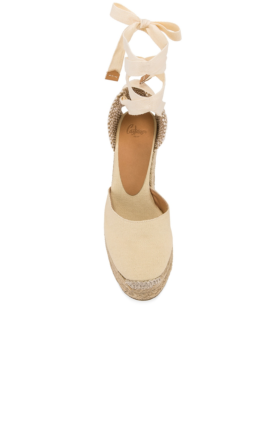 Image 4 of Castaner Carina Espadrille in Blanco & Natural