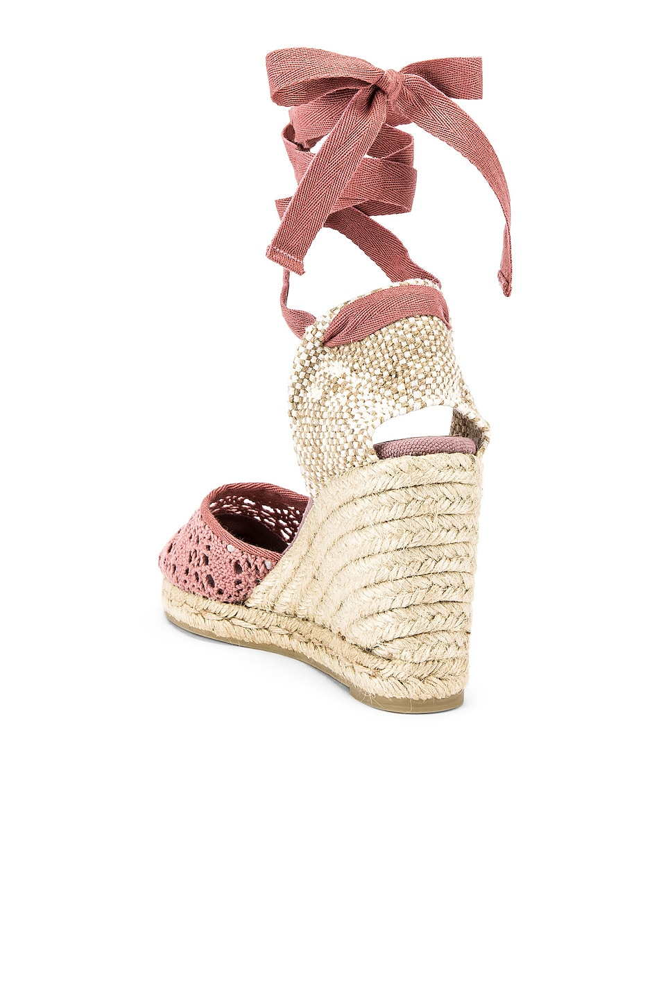 Image 3 of Castaner Carina Crochet Espadrille in Malva & Natural