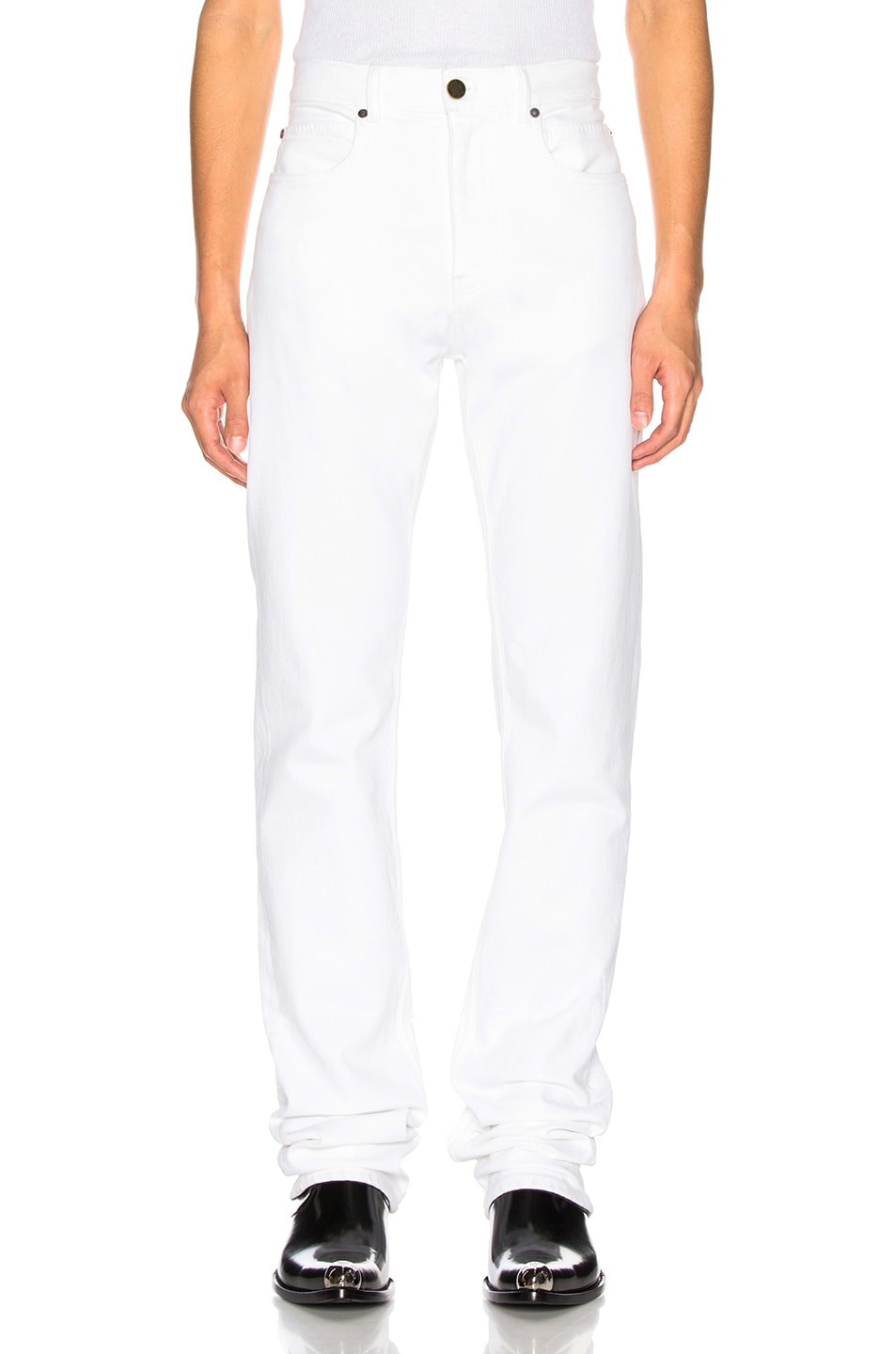 Image 1 of CALVIN KLEIN 205W39NYC Stretch Jeans in Optic White