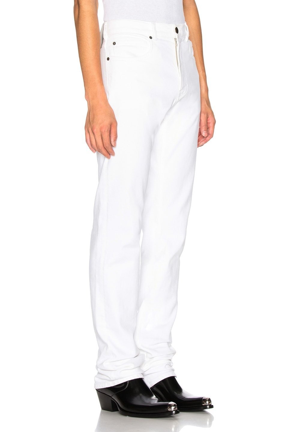 Image 2 of CALVIN KLEIN 205W39NYC Stretch Jeans in Optic White