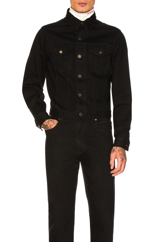 Image 1 of CALVIN KLEIN 205W39NYC Denim Jacket in Black