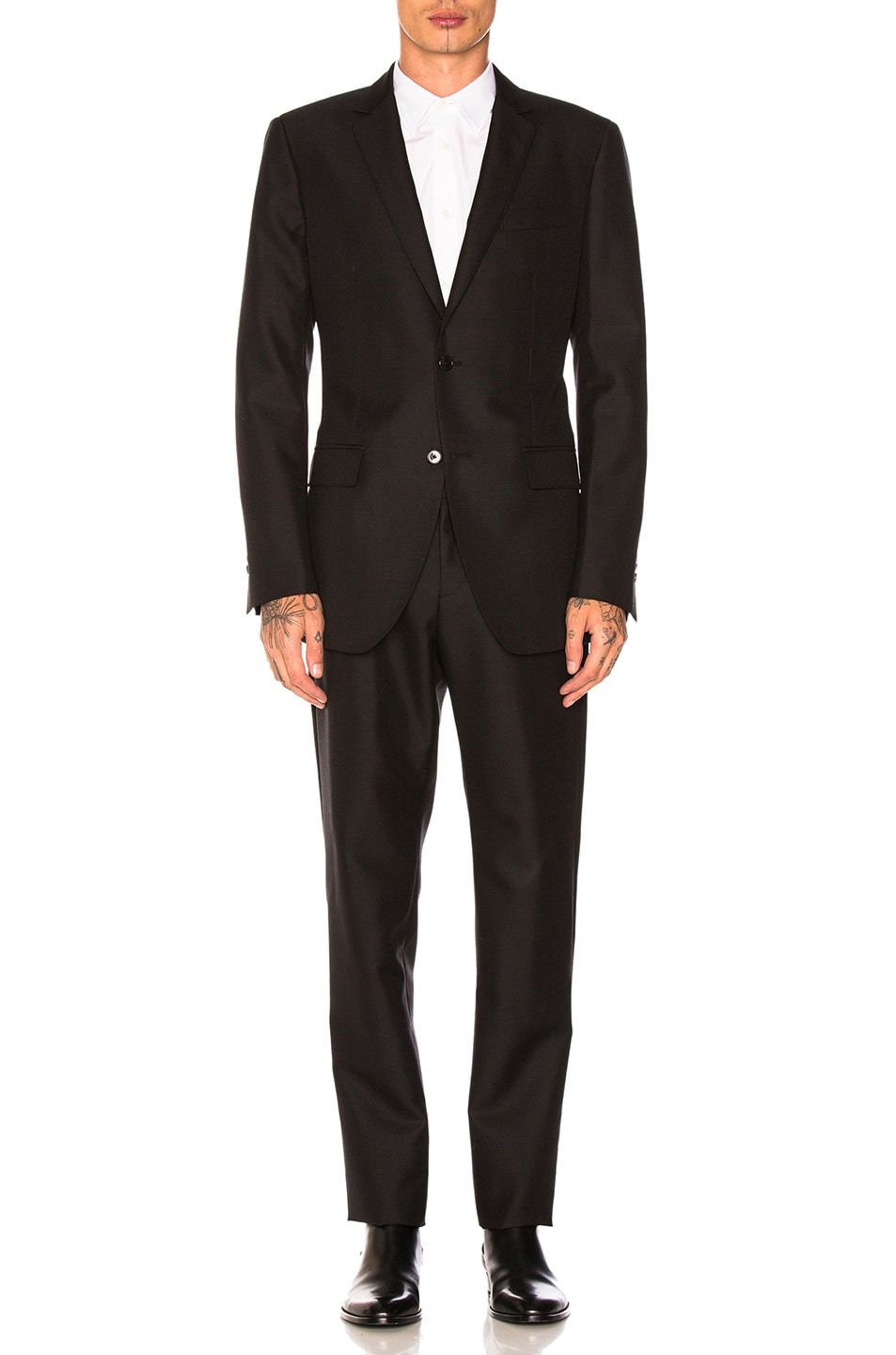 da10a3dd4a3 Image 2 of CALVIN KLEIN 205W39NYC Wool Mohair Plain Weave Suit in Black