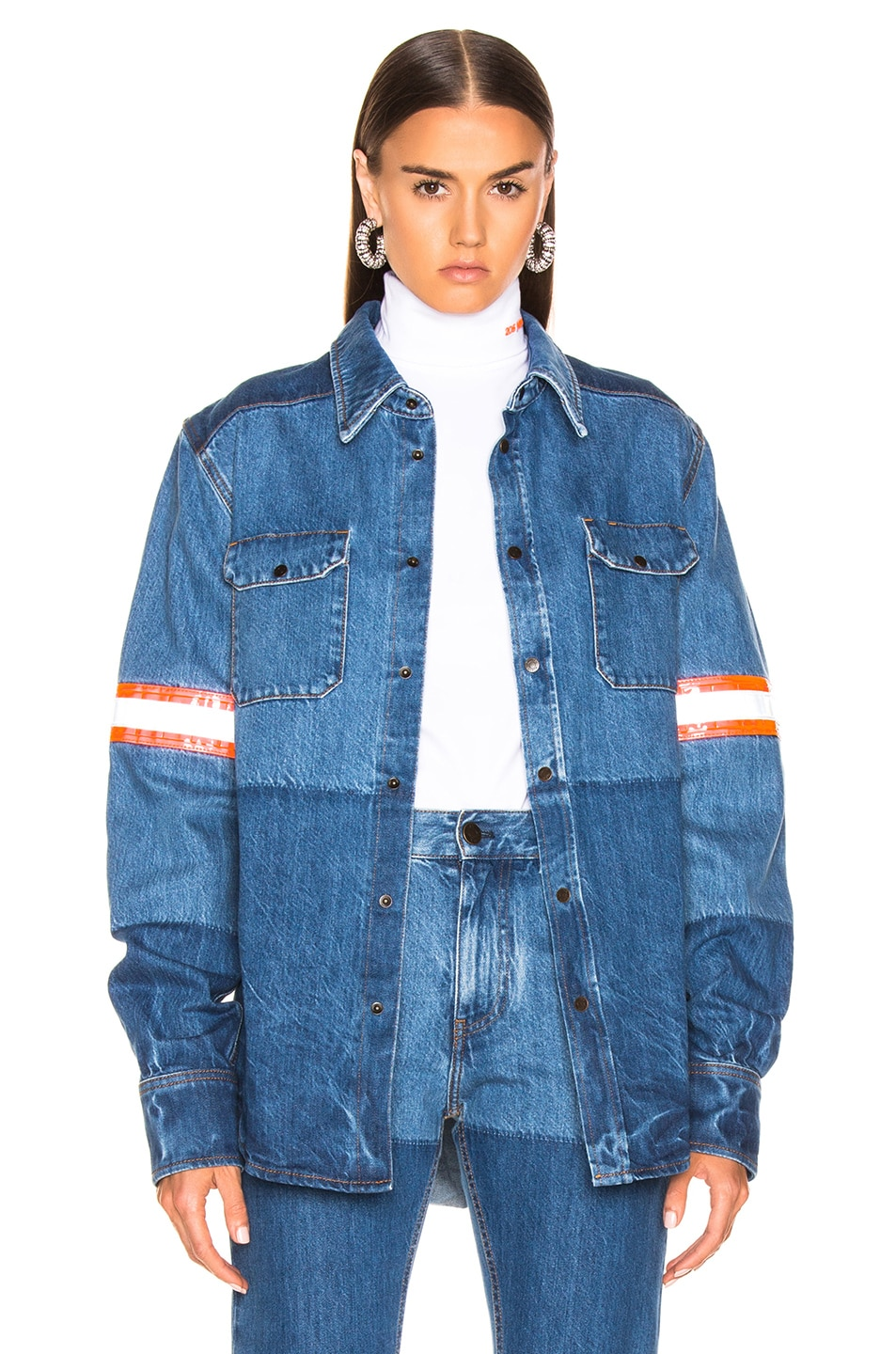 Image 1 of CALVIN KLEIN 205W39NYC Denim Jacket in Blue