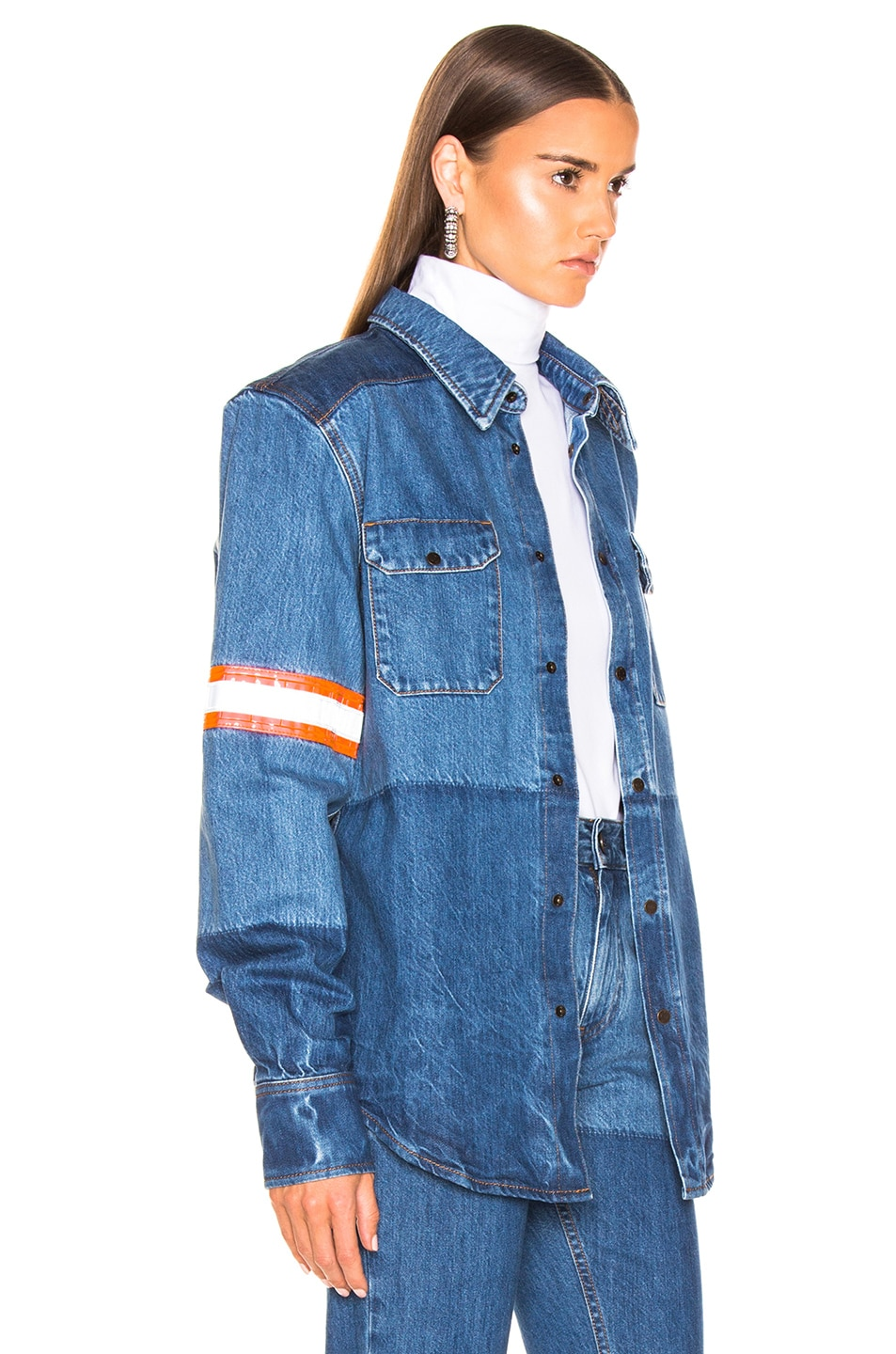 Image 2 of CALVIN KLEIN 205W39NYC Denim Jacket in Blue