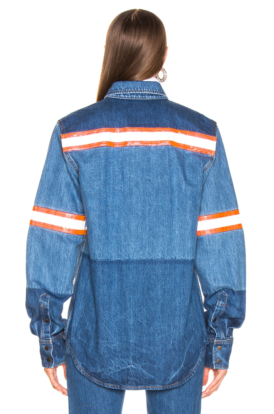 Image 3 of CALVIN KLEIN 205W39NYC Denim Jacket in Blue