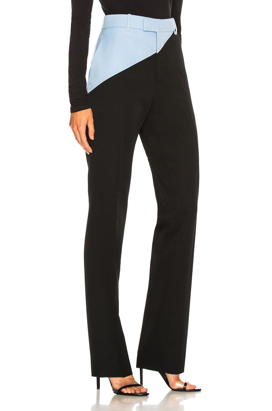 Image 2 of CALVIN KLEIN 205W39NYC Asymmetric Trousers in Black & Shadow Blue