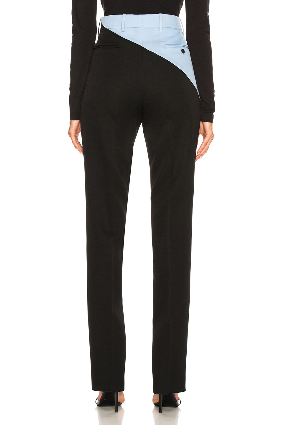 Image 4 of CALVIN KLEIN 205W39NYC Asymmetric Trousers in Black & Shadow Blue