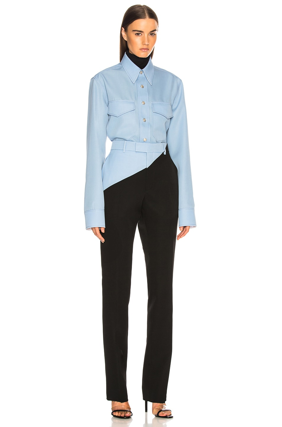 Image 5 of CALVIN KLEIN 205W39NYC Asymmetric Trousers in Black & Shadow Blue
