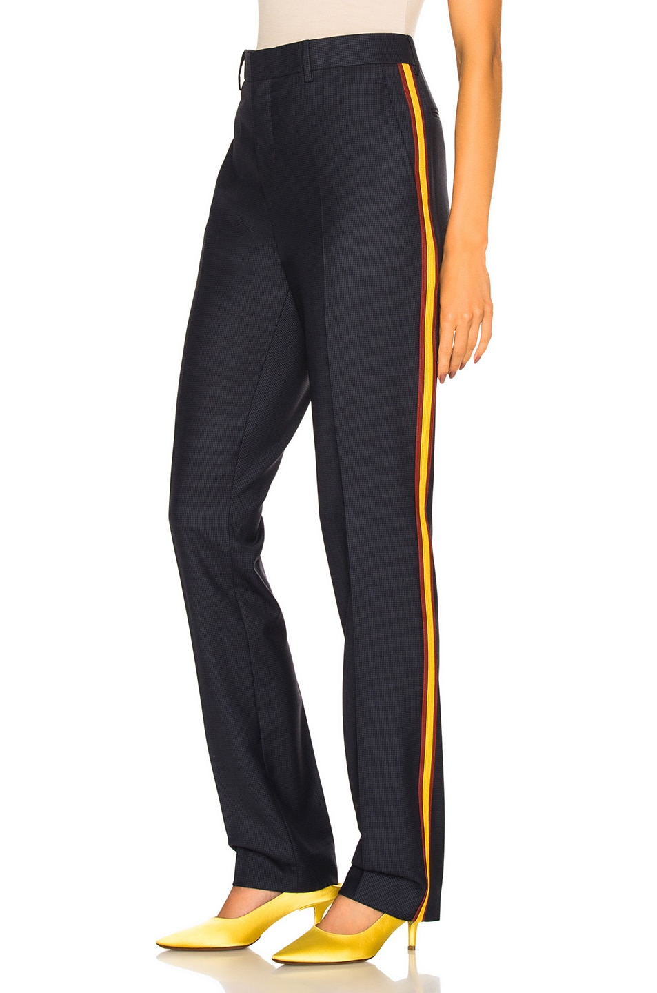 Image 1 of CALVIN KLEIN 205W39NYC Side Band Trousers in Marine Midnight