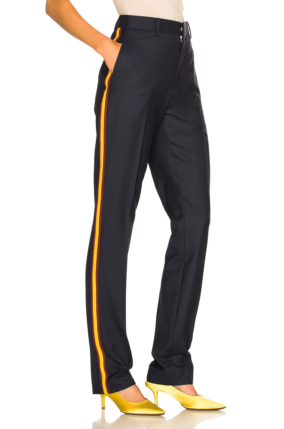 Image 3 of CALVIN KLEIN 205W39NYC Side Band Trousers in Marine Midnight