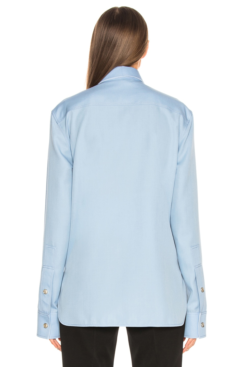 Image 3 of CALVIN KLEIN 205W39NYC Button Down Shirt in Shadow Blue