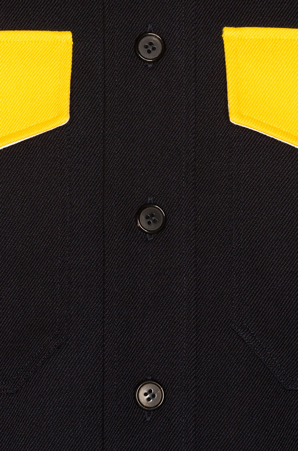 Image 5 of CALVIN KLEIN 205W39NYC Long Sleeve Shirt in Dark Navy & Yellow