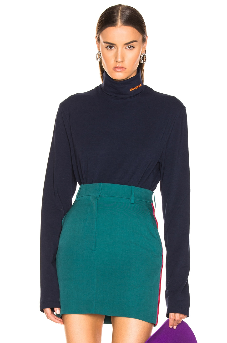 Image 1 of CALVIN KLEIN 205W39NYC Stretch Jersey in Marine