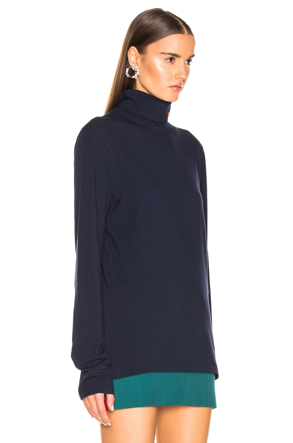 Image 2 of CALVIN KLEIN 205W39NYC Stretch Jersey in Marine
