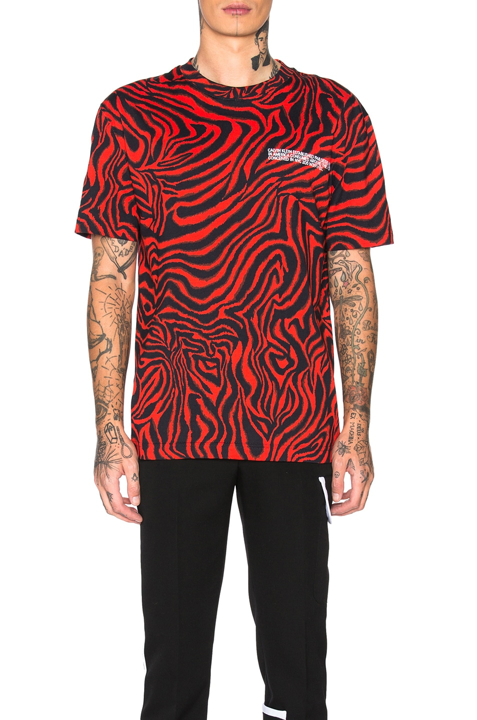 Calvin Klein 205w39nyc Accessories All Over Print Tee