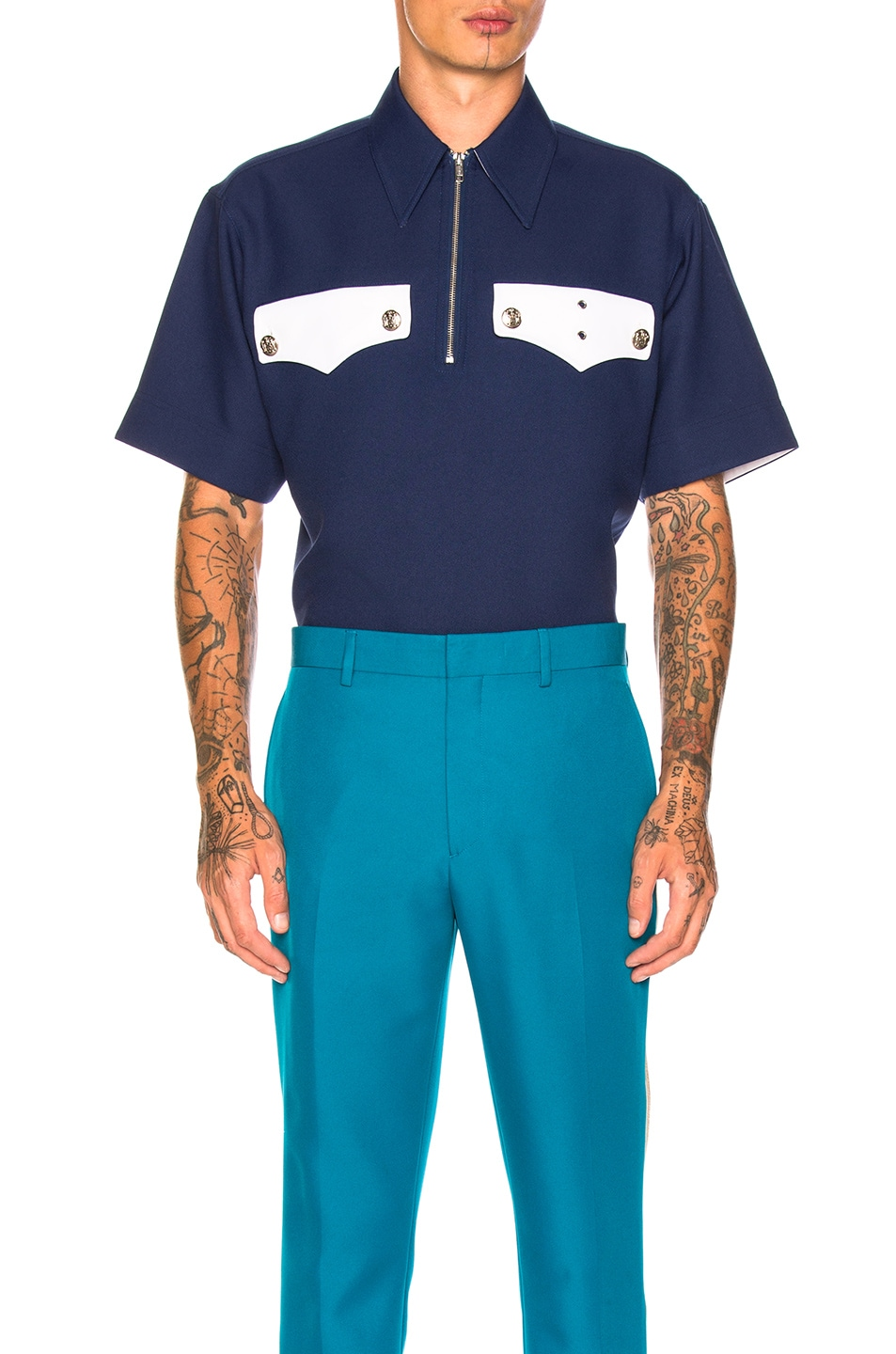 Image 1 of CALVIN KLEIN 205W39NYC Policeman Shirt in Midnight