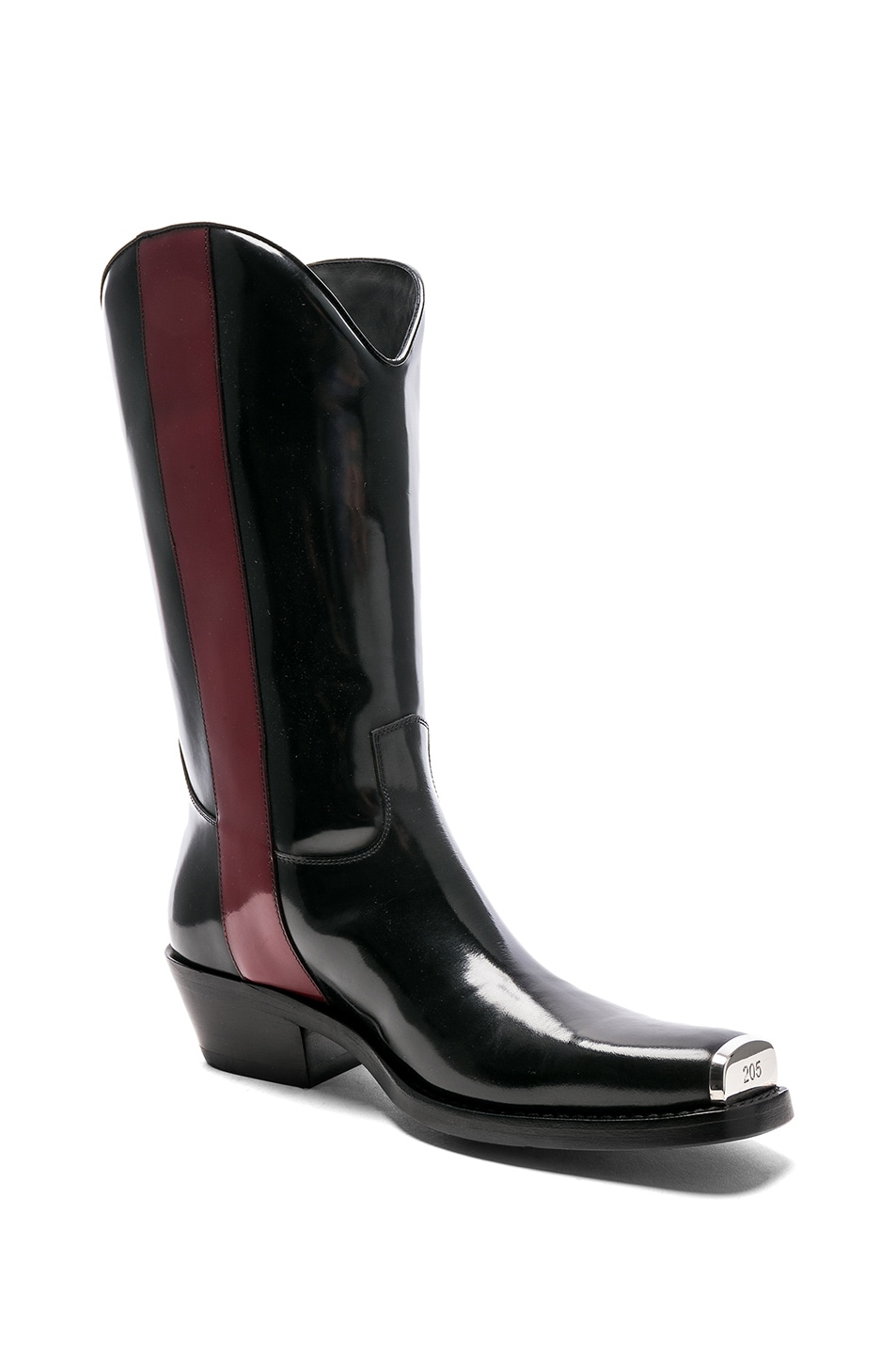 b38d0990824 CALVIN KLEIN 205W39NYC Leather Ed Western Boots in Black ...