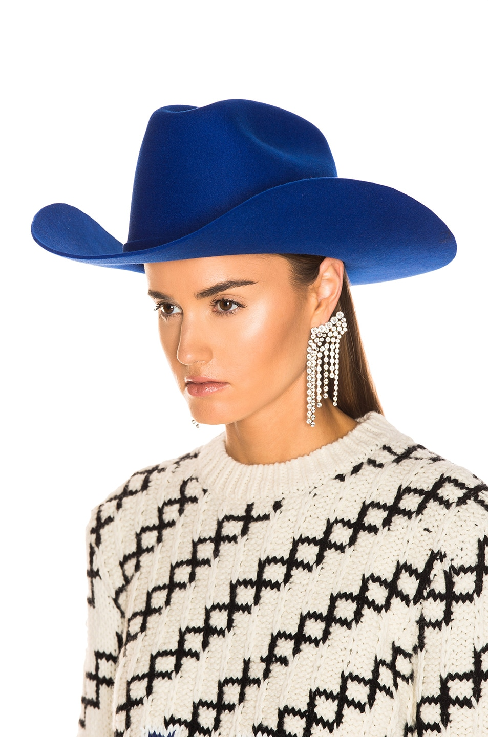 Image 5 of CALVIN KLEIN 205W39NYC Cowboy Hat in Electric Blue