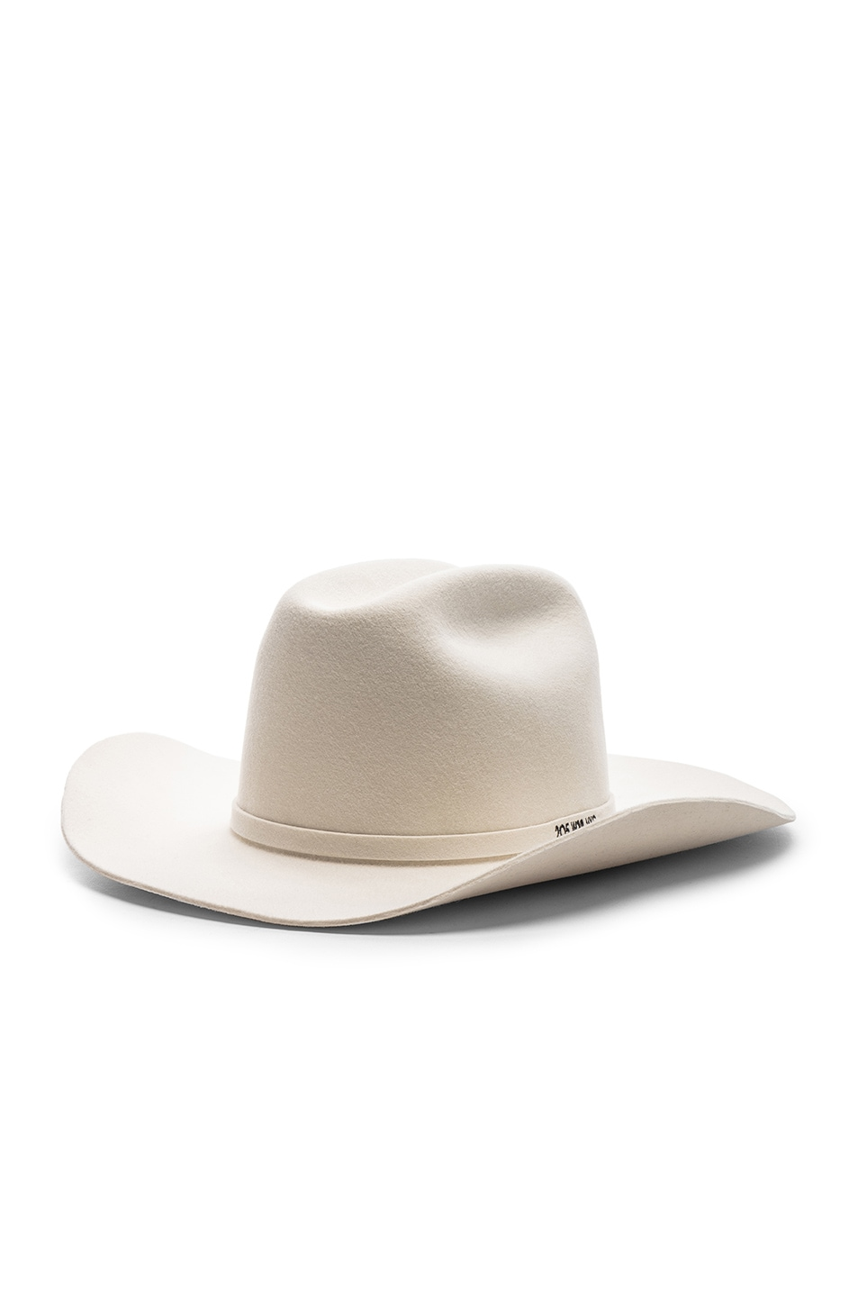 Image 2 of CALVIN KLEIN 205W39NYC Cowboy Hat in Off White