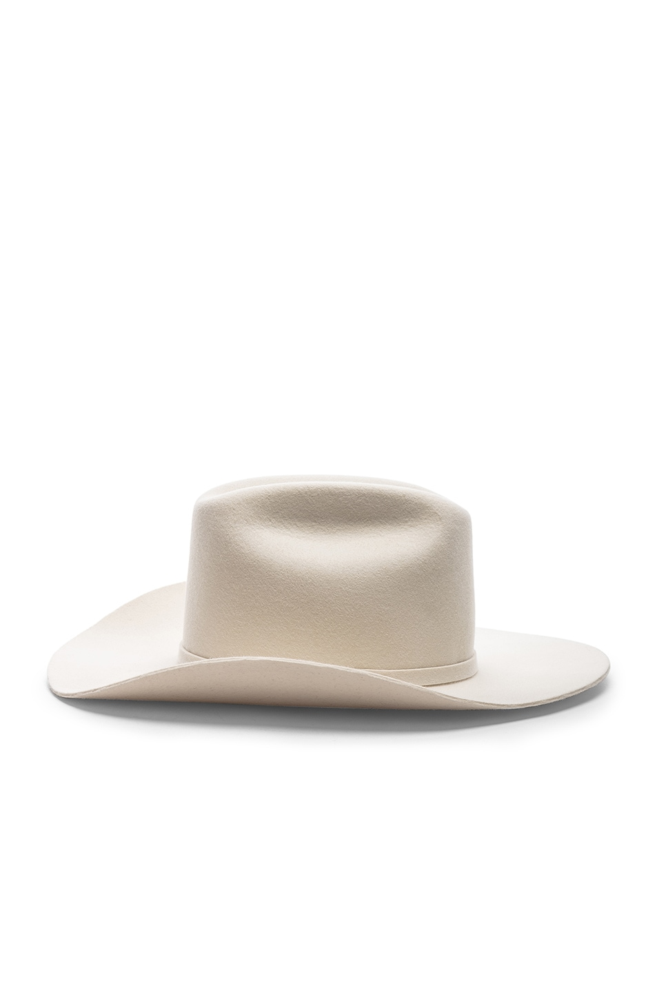 Image 3 of CALVIN KLEIN 205W39NYC Cowboy Hat in Off White
