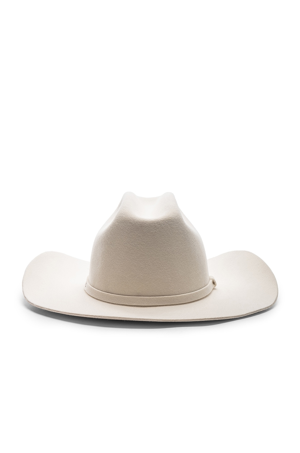 Image 4 of CALVIN KLEIN 205W39NYC Cowboy Hat in Off White
