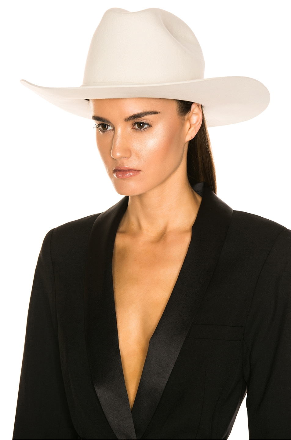 Image 5 of CALVIN KLEIN 205W39NYC Cowboy Hat in Off White