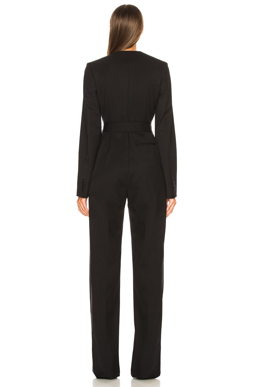 Image 4 of CALVIN KLEIN 205W39NYC Belted Jumpsuit in Black & Dark Navy