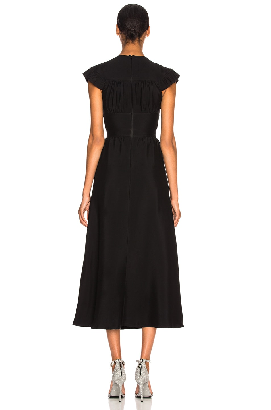 Image 3 of CALVIN KLEIN 205W39NYC Viscose Cady Cap Sleeve Dress in Black
