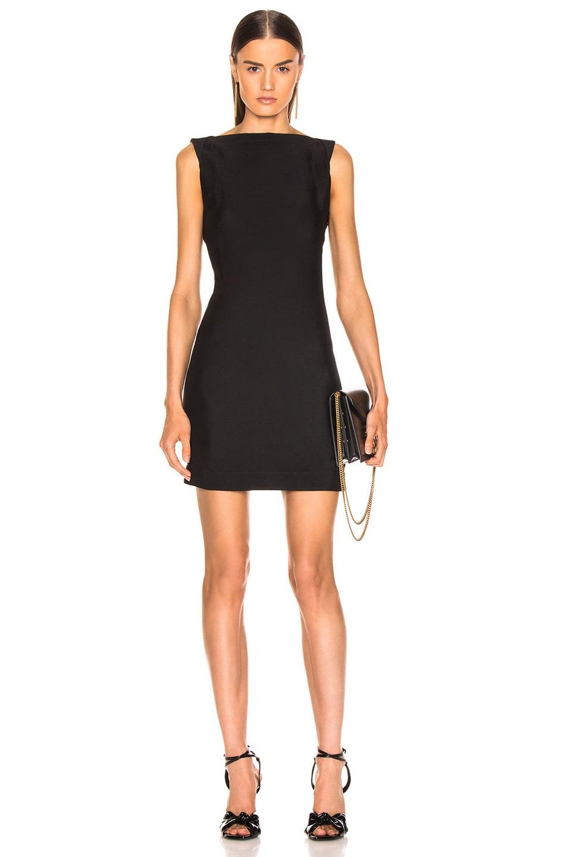 Image 2 of CALVIN KLEIN 205W39NYC Sleeveless Mini Dress in Black