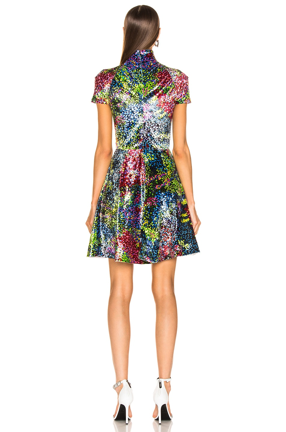 Image 3 of CALVIN KLEIN 205W39NYC Print Dress in Black Rainbow
