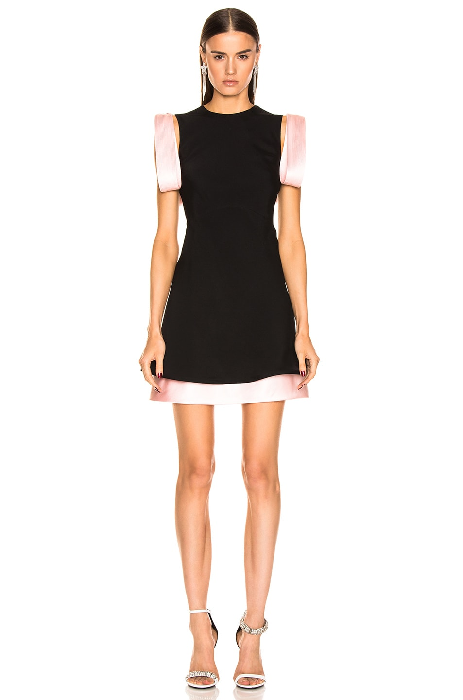 Image 1 of CALVIN KLEIN 205W39NYC Two Tone Dress in Black Pink