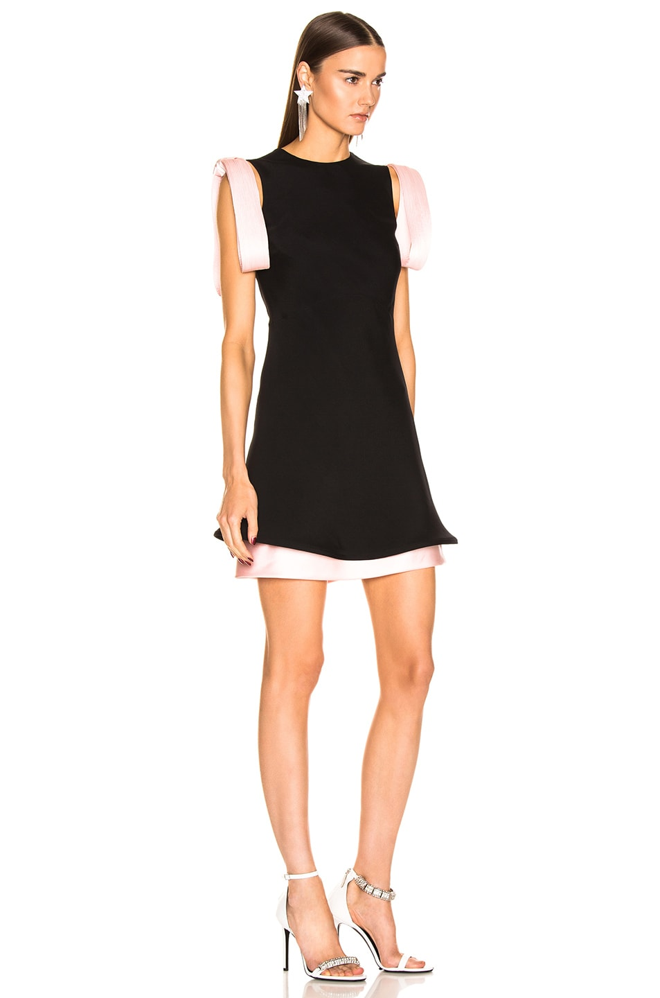 Image 2 of CALVIN KLEIN 205W39NYC Two Tone Dress in Black Pink