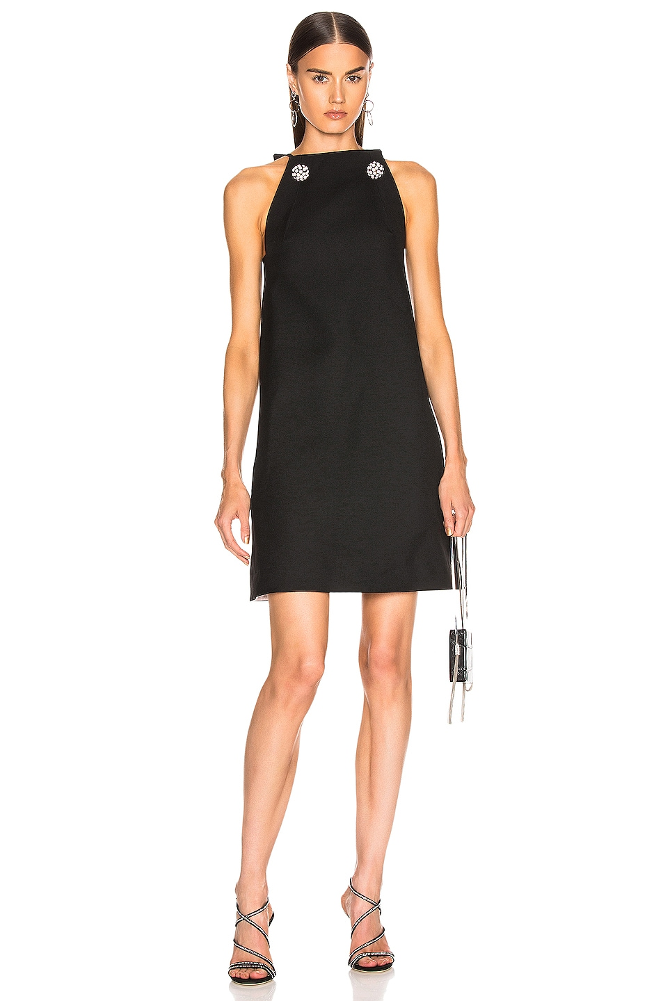 Image 1 of CALVIN KLEIN 205W39NYC Embellished Dress in Black