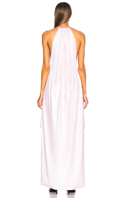 Image 3 of CALVIN KLEIN 205W39NYC Sequin Hi-Low Hem Dress in Rose
