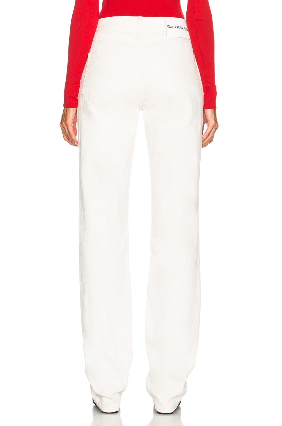 Image 3 of CALVIN KLEIN 205W39NYC High Rise Straight Jeans in White