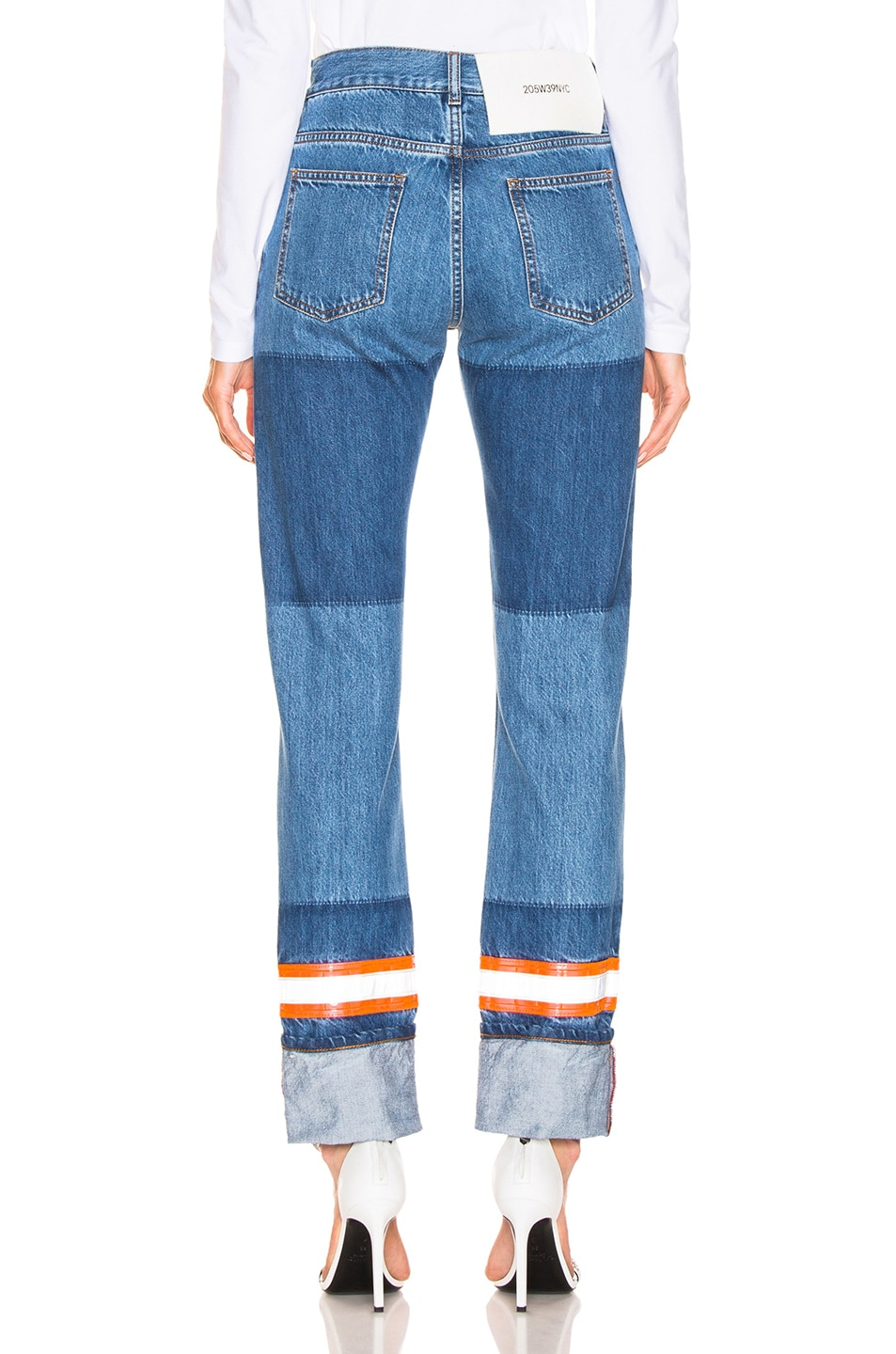 Image 3 of CALVIN KLEIN 205W39NYC Mixed Jean in Blue