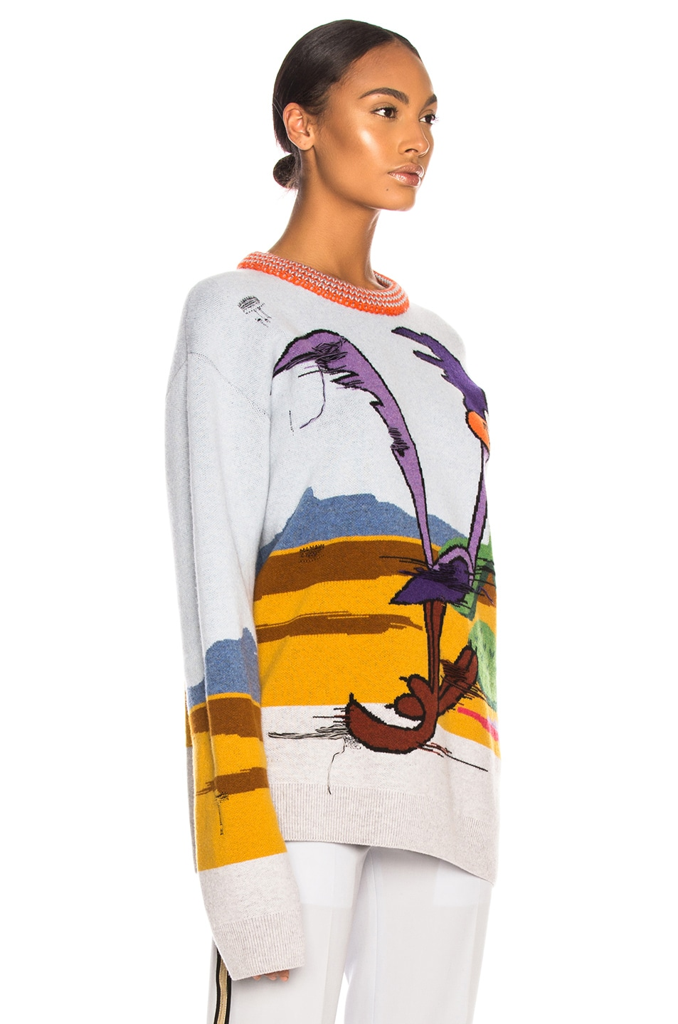 Image 2 of CALVIN KLEIN 205W39NYC Jacquard Looney Tunes Crewneck Sweater in Cerulean Multicolor