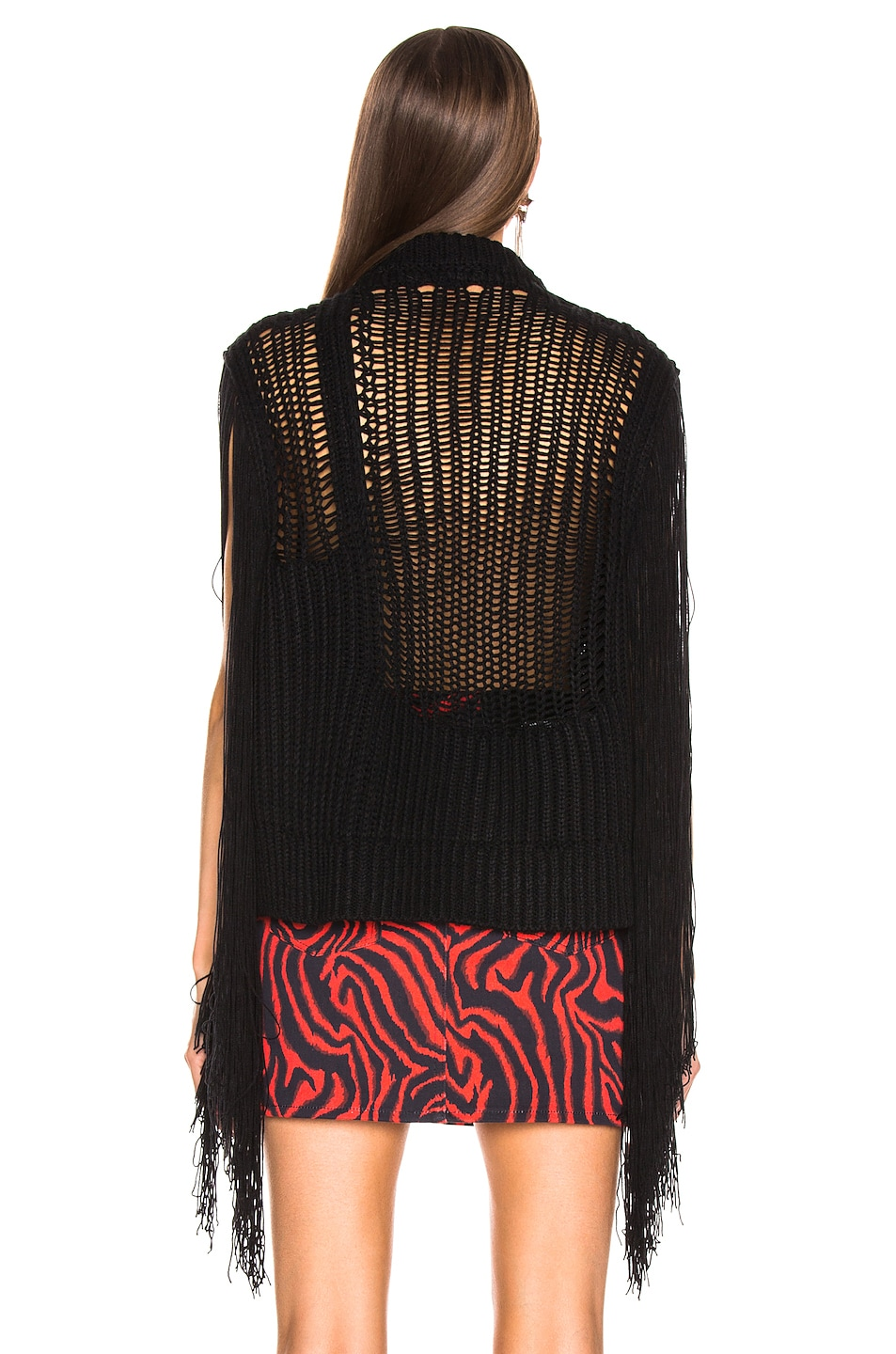Image 3 of CALVIN KLEIN 205W39NYC Fringe Knit in Black