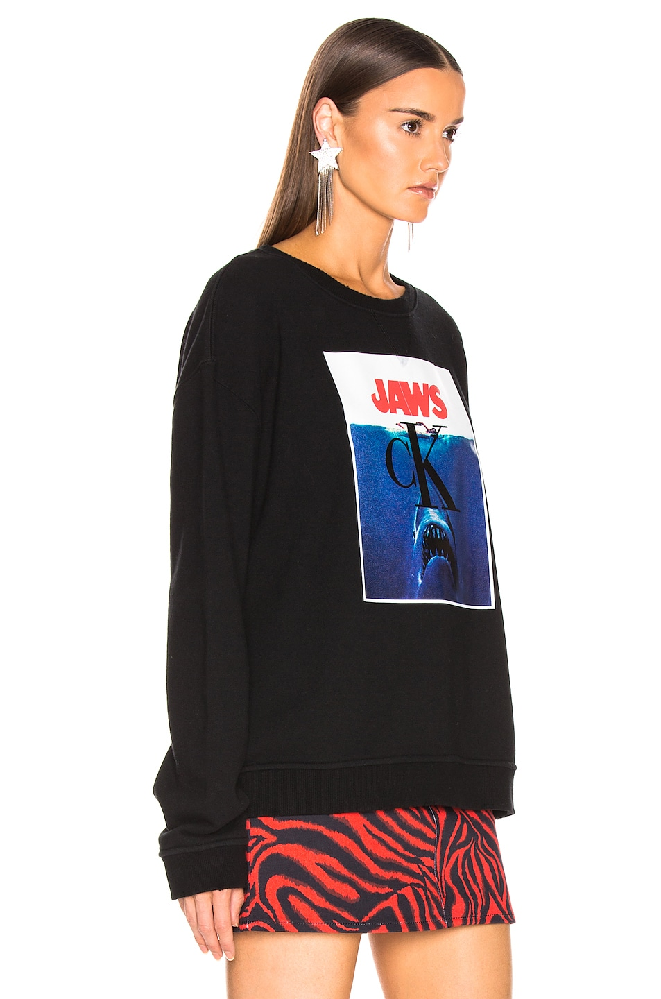 Image 3 of CALVIN KLEIN 205W39NYC Jaws Sweater in Black