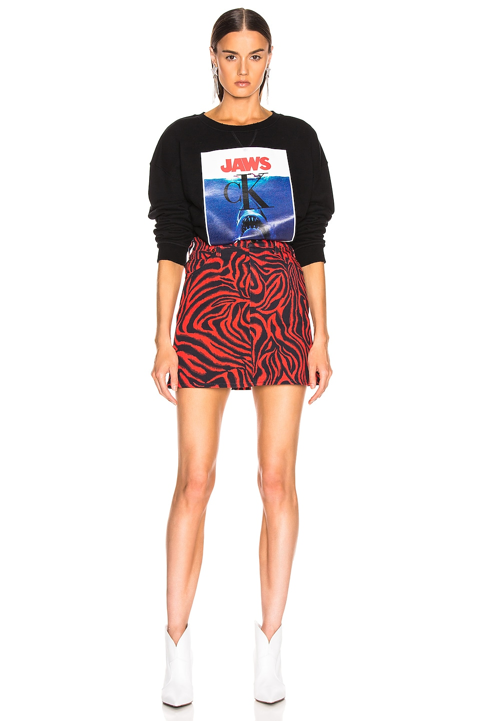 Image 5 of CALVIN KLEIN 205W39NYC Jaws Sweater in Black