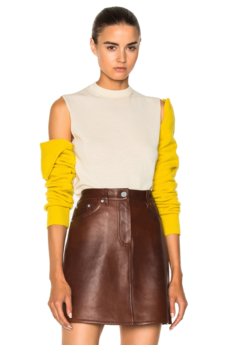Calvin Klein 205W39nyc cold-shoulder removable sleeve sweater Best Store To Get Sale Online Discount Largest Supplier Professional Cheap Discount Authentic Clearance Online Ebay wywtHb40
