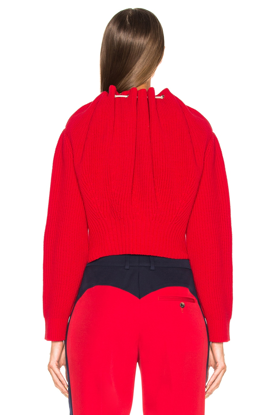 Image 3 of CALVIN KLEIN 205W39NYC Drawstring Neck Sweater in Red