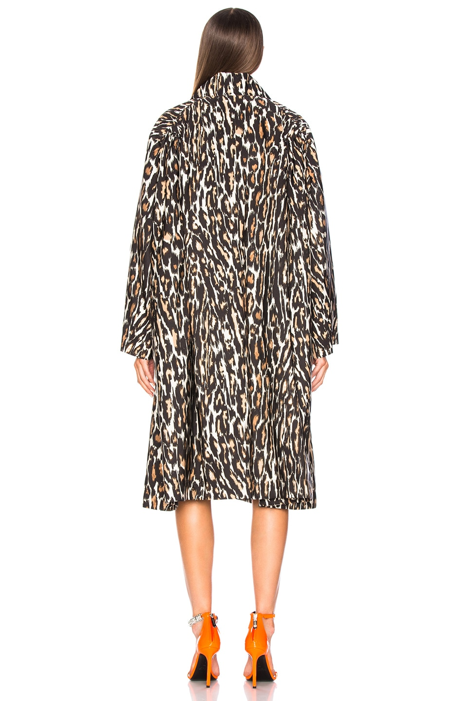 Image 5 of CALVIN KLEIN 205W39NYC Leopard Print Coat in Ivory, Brown & Black